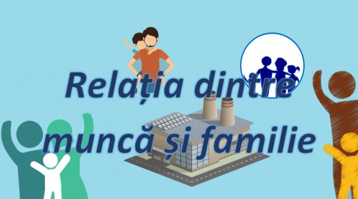 relația dintre muncă și familie